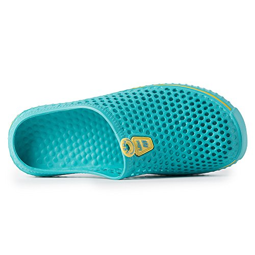 PutiTower Mens Womens Garden Clogs Shoes Sandal Comfortable Slippers (11 B(M) US Women/ 9 D(M) US Men, blue&green) by PutiTower (Image #4)