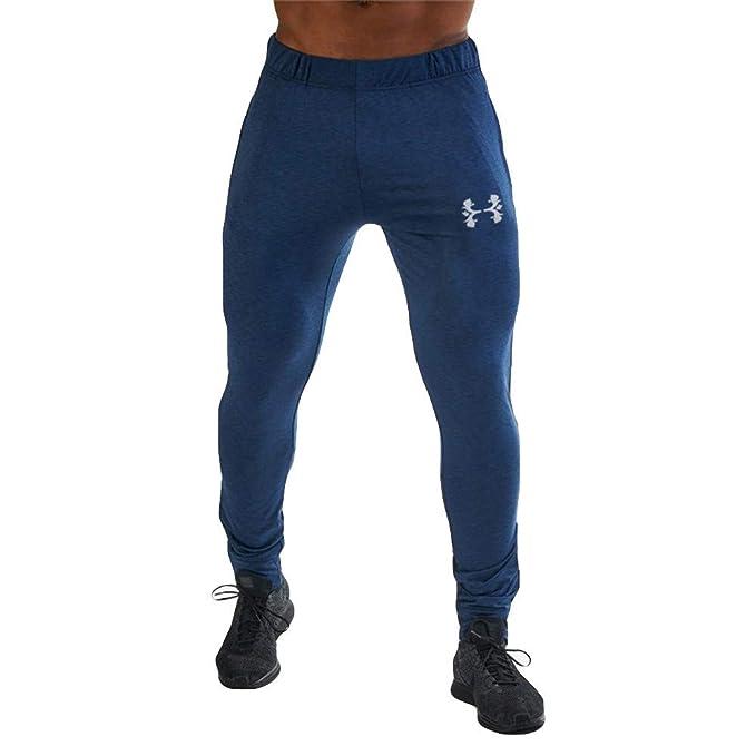 Pantalones Hombre Pitillo Modernos Chandal Color Puro Monos Impresos  Bolsillo Casual Deporte Trabajo Casual Pantalon Pantalones Hombre Chandal  Ajustados  ... 2552a51f722b