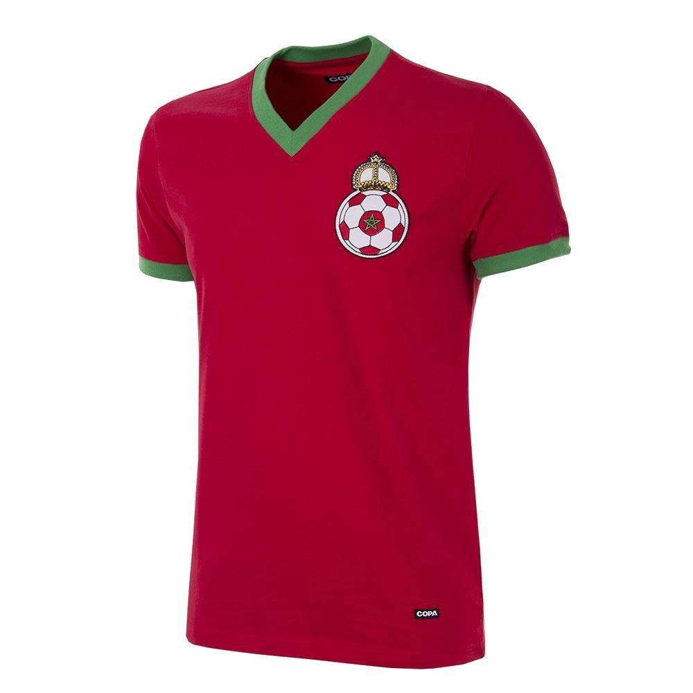 Copa Classics Morocco 1970 Short Sleeve Retro Football Soccer T-Shirt Trikot 100% cotton