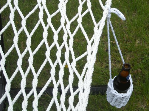 Hammock Sky Portable Drink Holder Intricate Handcrafted Braided Design Attach to Hammocks, Hammock Chairs, Backpacks, Lounge Chairs, Belts Wear Around Your Neck, Weatherproof Polyester
