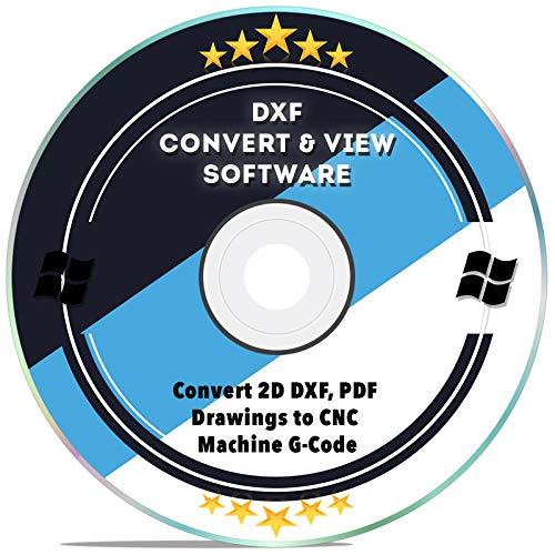 Price comparison product image DXF Software dxf2gcode CAD Viewer Converter 2D DXF,  PDF Drawings to CNC Machine G-Code for Windows 10 8 7