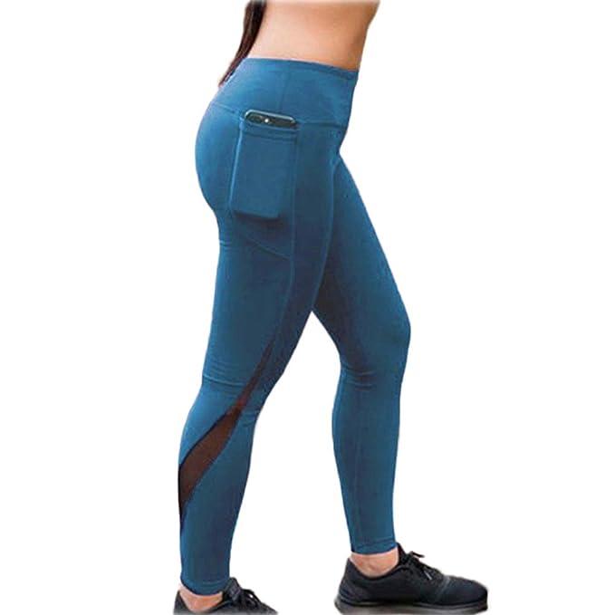 a0366e298755 Donna Pantaloni da Yoga, Leggins Sportivi da Donna Yoga Pants Vita Alta  Push up Fitness