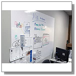 Think Board Premium Whiteboard Film, Peel and Stick, X-Large (White) (4'x6')
