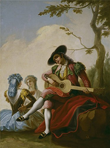 The Perfect Effect Canvas Of Oil Painting 'Bayeu Y Subias Ramon El Majo De La Guitarra Ca. 1778 ' ,size: 12 X 16 Inch / 30 X 41 Cm ,this Reproductions Art Decorative Prints On Canvas Is Fit For Home Theater Decor And Home Gallery Art And Gifts