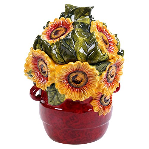 Certified International 13992 Sunflower Meadow 3D Cookie Jar, 11