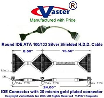 IDE Cable 36inch IDE ATA//133 Single Drive Internal Drive Cable  Silver