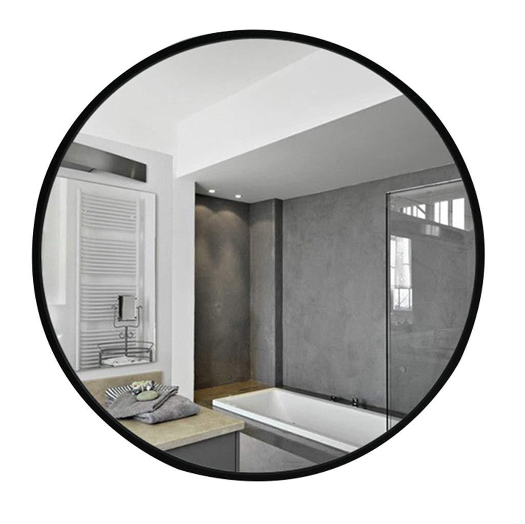 Spiegel - runder Badezimmerspiegel aus Schmiedeeisen, an der Wand befestigter schwarzer Schminkspiegel 60/70 / 80cm (größe : 70cm)