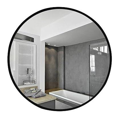 Specchio Bagno Nero.Specchio Bagno Rotondo In Ferro Battuto Toeletta Nero Da Parete 60 70 80cm Dimensioni 70cm