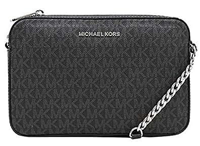 17dc4a5157df MICHAEL Michael Kors Women's Large East/West Cross Body Bag (Black ...