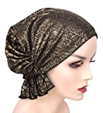 Chemo Cap Beanies, Blended Knit, Easy Pretied Cancer Turban Headwear for Women, Hair Loss Patients