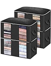 Closet Organizer Clothes Storage Bags Large Capacity Storage Organizers with Reinforced Handle, Stainless Steel Zipper, 3 Layer Fabric for Comforters, Bedding, Blankets