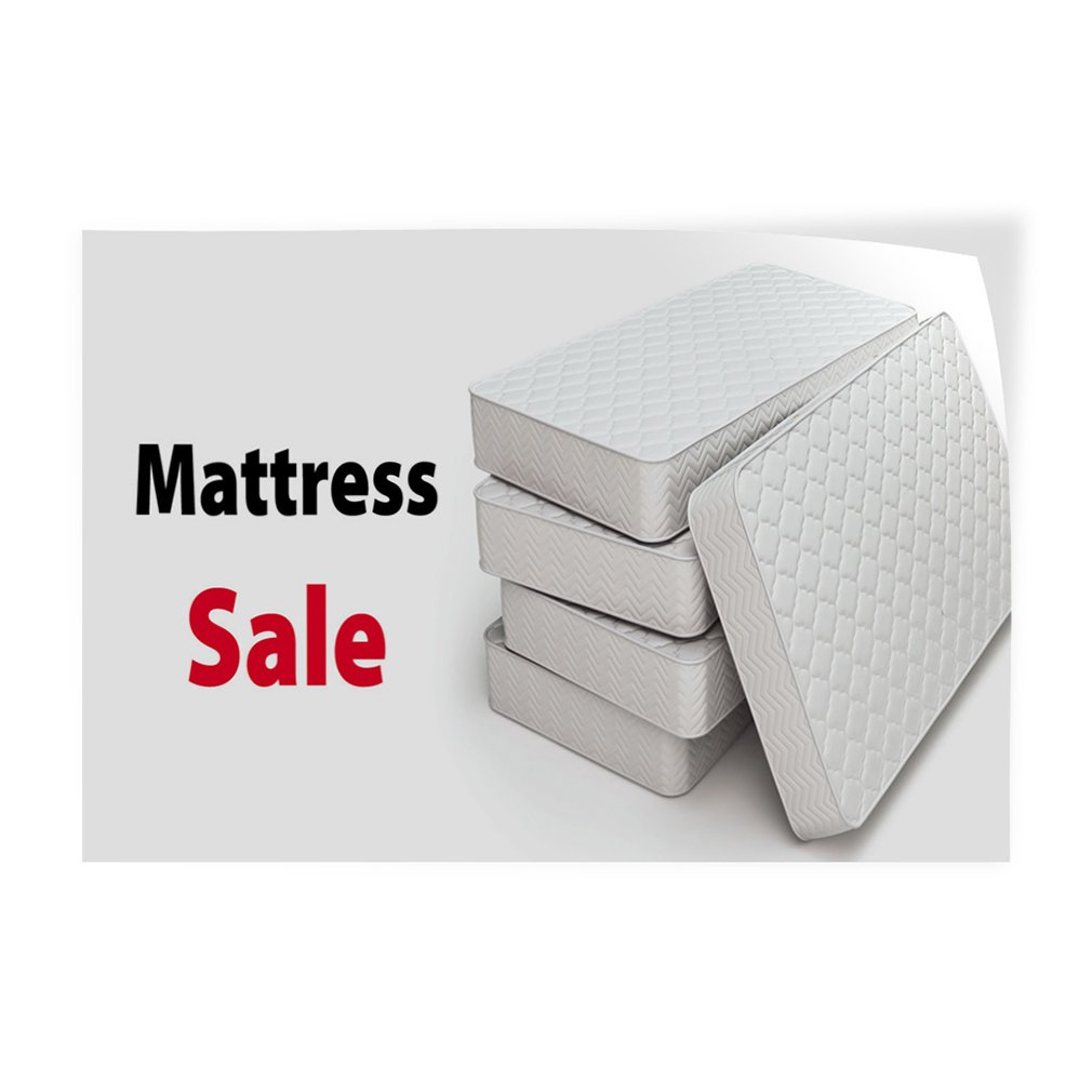 52inx34in Set of 2 Decal Sticker Multiple Sizes Mattress Sale #1 Style G Business Mattress Sale Outdoor Store Sign White