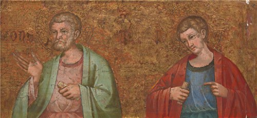 Oil Painting 'Dalmatian - Two Apostles - Fragment Of Predella (1),about 1400' 24 x 52 inch / 61 x 133 cm , on High Definition HD canvas prints is for Gifts And Foyer, Gym And Hallway decor, service (52