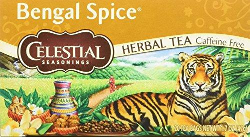 (Celestial Seasonings Herbal Tea - Bengal Spice - Caffeine Free - 20 Bags -Pack of 6)