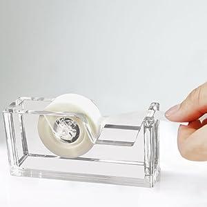 Desktop Clear Acrylic Tape Dispenser 1