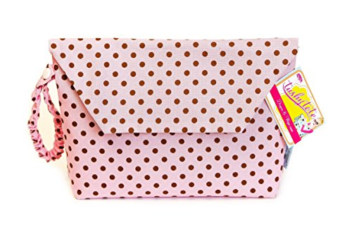 Sister Chic Tushy Tote Diaper and Wipes Case, Pink Dot