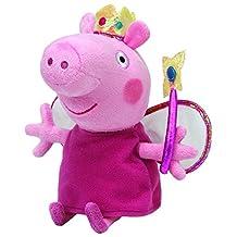 "TY Beanies Buddy 10"" Plush Peppa Pig Princess Peppa"