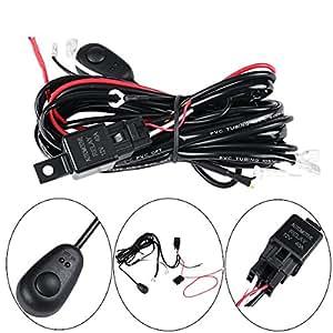 amazon com  led wiring harness  powlab 2 metrer 12v 40a