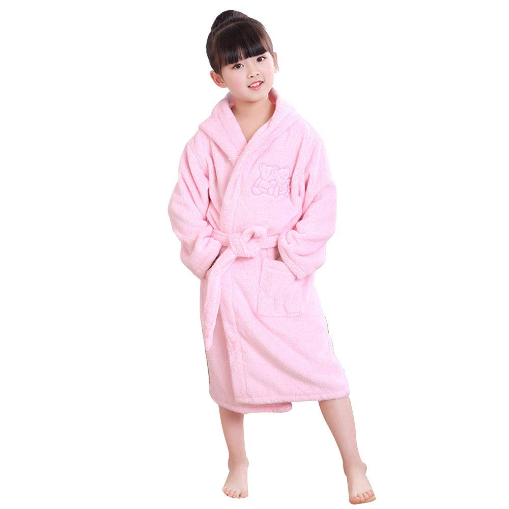 Bathrobe Children's for Toddlers, Soft Cotton Towels for Boys and Girls, Baby Hooded Wraps, Home, Swimming, Spa by Bathrobe