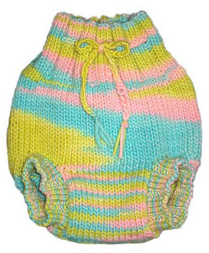 Image: Pea Patch Diaper Soaker Knitting Pattern - This pattern is for a knitted wool cloth diaper cover much like your grandma or great-grandma may have used!