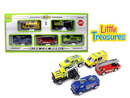 Animated Color (Little Treasures Toy of Five Model Cars Vibrant, Animated Colors, Build to Collect Likes of Vehicle)
