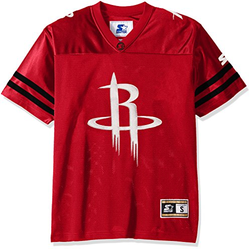 STARTER NBA Houston Rockets Men's Heritage Football Jersey, X-Large, Red