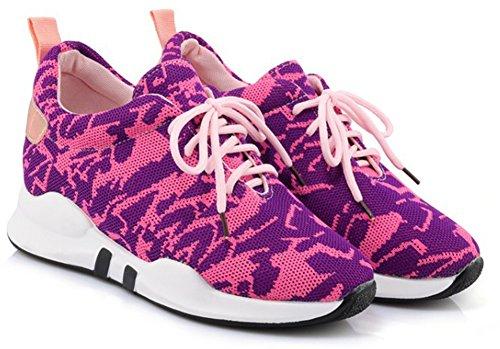 Confort Rose Femme Rond Aisun Chaussures Bout Club Baskets Tennis Pour Lacets 451wZp1qvH