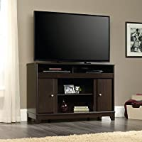 Sauder Camarin TV Stand in Jamocha Wood