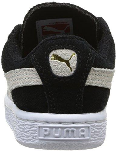 Puma Basses Noirblack Suede Mixte InfBaskets 2 Enfant white Straps 5RLq3jc4A