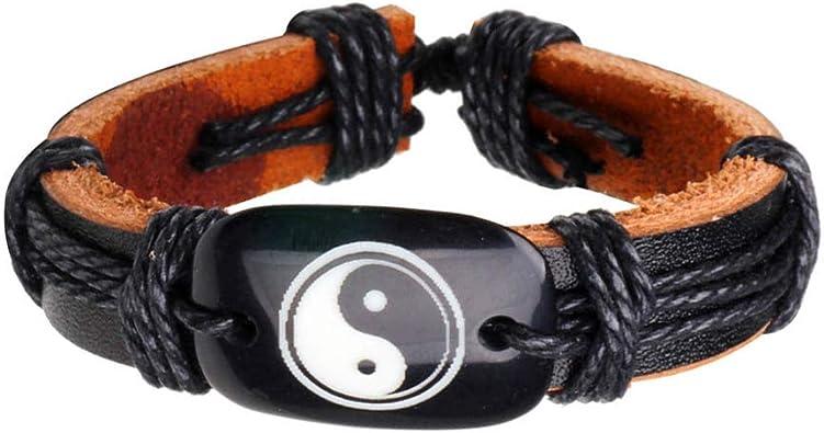 Father/'s Day gift for Dad Men Bracelet Anniversary gift for boyfriend,boyfriend birthday gift for husband Yin Yang Leather Man bracelets