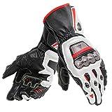 Dainese Full Metal 6 Gloves (LARGE) (BLACK/WHITE/LAVA RED)