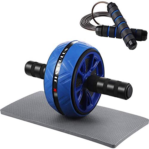 Sumind Ab Wheel Roller Set, 3-in-1 Ab Roller with Knee Mat and Jump Rope, Ab Roller Wheel Exercise Equipment, Abs Carver Wheel for Home Gym Abdominal Exercise Core Fitness Workout