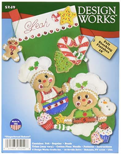 (Design Works Crafts 5249 Stocking, Gingerbread Bakers, 18