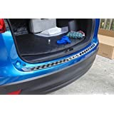 Amooca DIY Stainless Steel Rear Bumper Protector Sill Plate Cover for Mazda CX5 CX-5 2012-2015