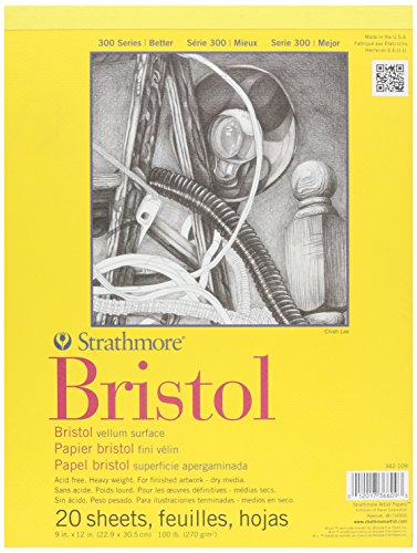strathmore-bristol-vellum-paper-pad-9-x-12-inch-20-sheets