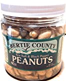 Bertie County Peanuts - Blister Fried Cocktail Peanuts Sea Salt and Black Pepper Flavor - 10 Ounce Jar - Made From Blister Fried Peanuts