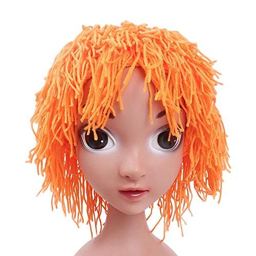 BAOBAO Doll Wig Colorful Knit Yarn Hair Hat Beanie for Kids Halloween Costume ()