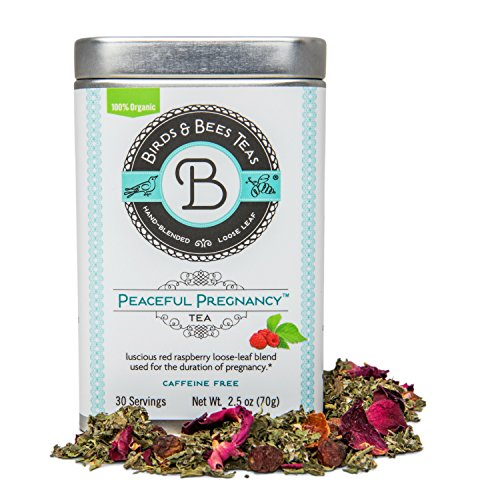 Perfect Food Red Raspberry - Peaceful Pregnancy Tea – Organic Red Raspberry Leaf - Birds & Bees Teas also includes Nettle, Rosehips, Rose Petals and more – Nourishing and Safe for Your First Trimester through Third Trimester