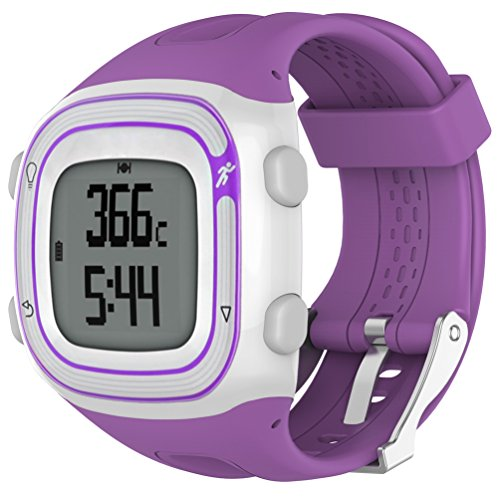 Purple Plastic Band - Watch Band For Garmin Forerunner 10&Forerunner 15, Fashion Watch Strap Plastic Band For Garmin Forerunner 10&Forerunner 15, Carambola Adjustable Replacement Accessory Wristband (purple)