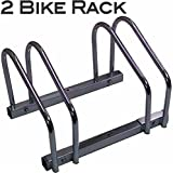 EasyGo Floor Stationary Double Bike Wheel Rack, Indoor – Outdoor Bike Stand