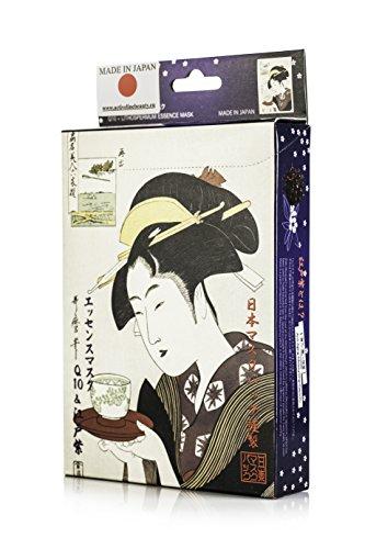 -  Ukiyoe Series 歌麿 Line Essence Mask Coenzyme Q10+ 江戸紫 (10Piece)