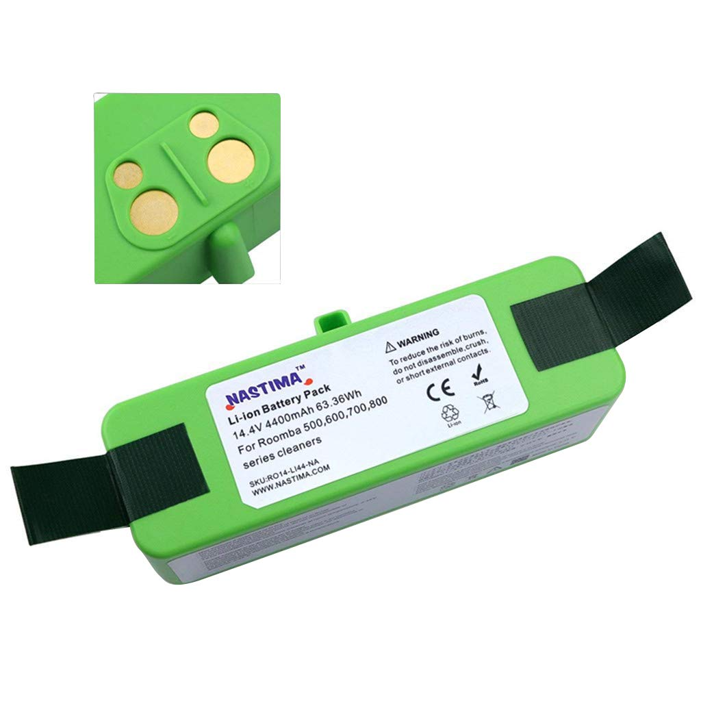 NASTIMA Batería de litio (Li-ion) de alta capacidad de 4.4Ah para iRobot Roomba 500 600 700 800 serie 510 530 540 545 550 560 570 580 585 620 630 650 660 ...