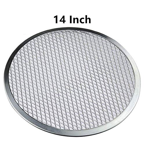 14 Pizza Screen Aluminum Pizza Pan Round Chefs Baking Screen,Commercial Grade Microwave Crispers