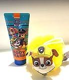 Paw Patrol Rubble Bath Sponge and Pawsome Berry Body Wash