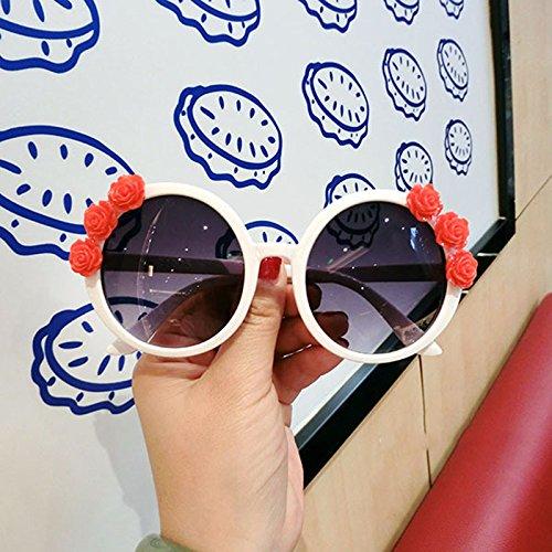 mujer de amp; para Round Color Gafas mujer Flowers 6 de 6 de amp;Gafas sol LYM Fashion Beach para X4 Resort sol Gafas protecciónn ZEqZ64dw