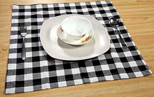 Linen Clubs Pack Of 12 Black -white 100% Cotton Yarn Dyed Gingham Check Dinner Napkins 18x18Inch,Clambake Beach party Nautical Dinner Napkins as well offered by by Linen Clubs (Image #6)