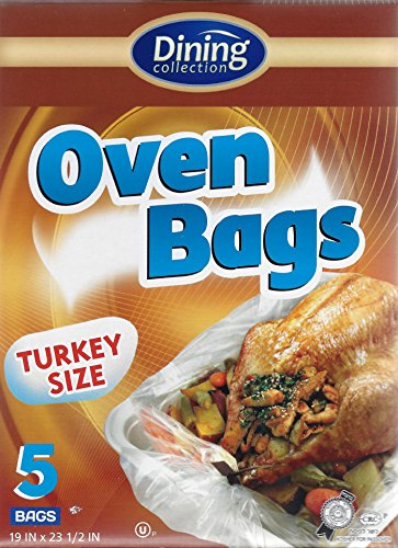 Dining Collection Oven Bags, Turkey Size, Large, 5 Bags (12)