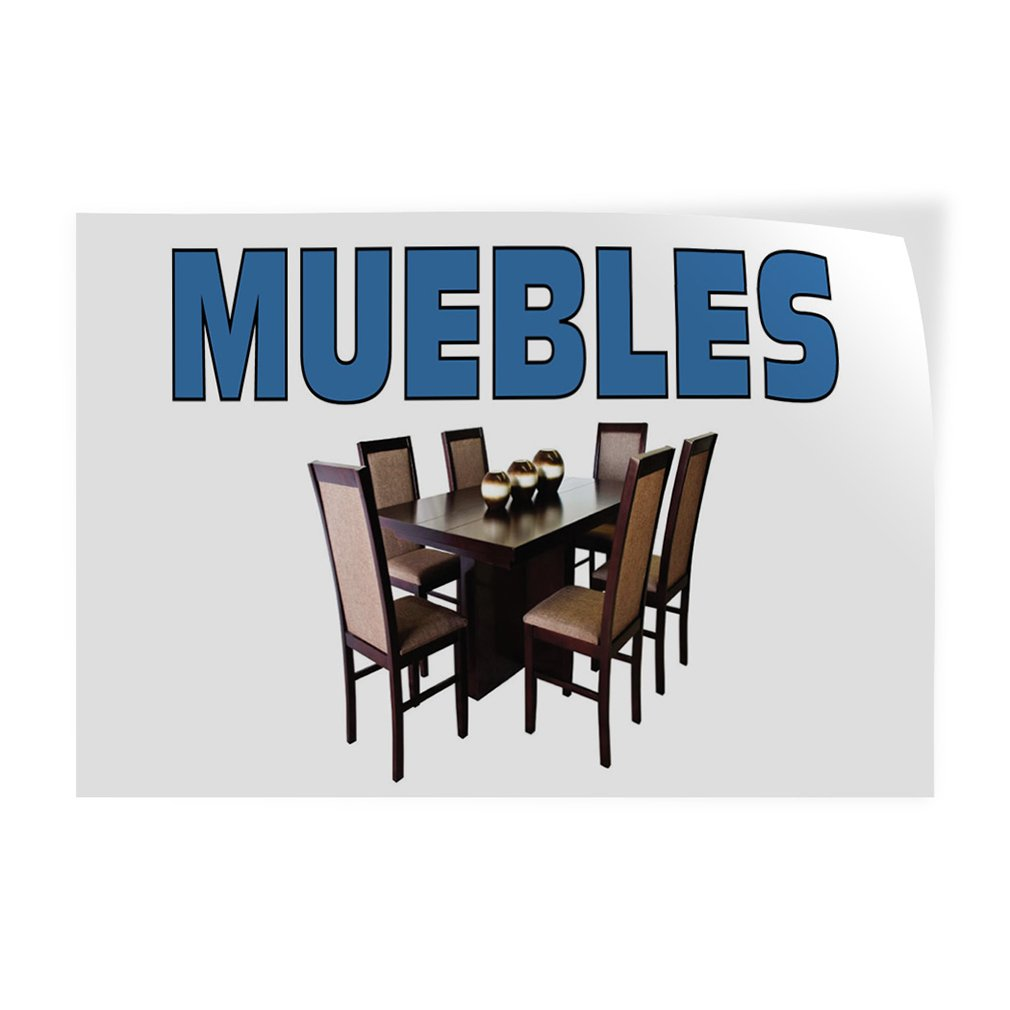 Set of 10 Decal Sticker Multiple Sizes Muebles Business Muebles Outdoor Store Sign White 14inx10in