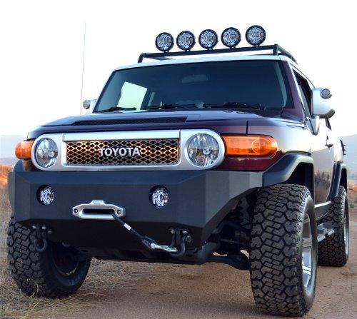 (Body Armor 4x4 FJ-19336 Black - Steel Front Winch Bumper for Toyota 2007-2013 FJ Cruiser)