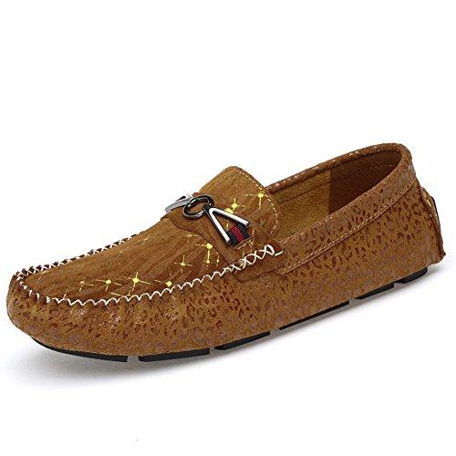 Zapatos Marrón de Conducción Mocassins Mejora en de Gamuza Los Zapatos de Yaer Los Casual Mocasines Hombres xZg7qa